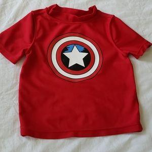 Kids captain america swimming top